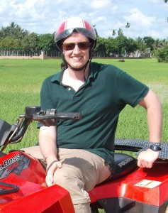Andy on a quadbike